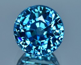 9.45 Cts Fantastic Beautiful Round Shape Natural Blue Zircon