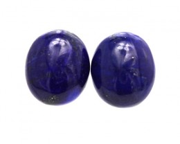8.74cts Natural Lapis Lazuli Matching Oval Cabochons