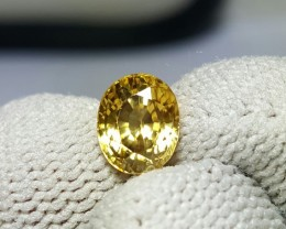 UNTREATED 1.81 CTS NATURAL BEAUTIFUL OVAL MIXED YELLOW ZIRCON