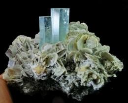See Vdo~ 578 Gram Natural~Unheated~Terminated~ Blue Aquamarine Crystal Spec