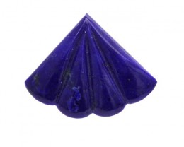 3.63cts Natural Lapis Lazuli Fluted Fan