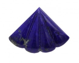 6.16cts Natural Lapis Lazuli Fluted Fan