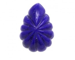 2.92cts Natural Lapis Lazuli Flute Pear Cabochon