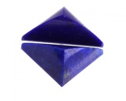 2.52cts Natural Lapis Lazuli Matching Triangle Pyramid Cabochons