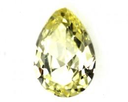 0.43cts Natural Australian Yellowish Zircon Pear Shape