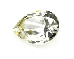 0.80cts Natural Australian Yellowish Zircon Pear Shape