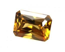 1.47cts Natural Australian Brownish/Orange Zircon Radiant Cut