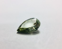 Natural Fancy Green Diamond 0.36 ct Pear shape.