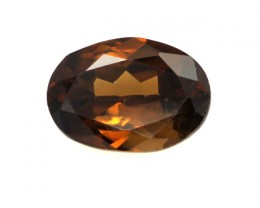 1.06cts Natural Australian Brownish/Red Zircon Oval Shape