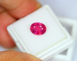3.26Ct Natural Mozambique Ruby Oval Cut