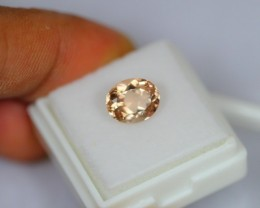 2.20Ct Natural Peach Pink Morganite Oval Cut