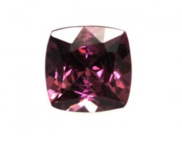 1.27cts Natural Rhodolite Garnet Cushion Cut