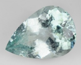 ~CERTIFIED~ 5.98 Cts Natural Paraiba Tourmaline Pear Cut Mozambiue Gem
