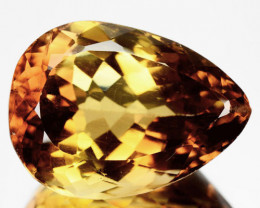 ~CERTIFIED~ 28.75 Cts Natural Yellow Topaz Pear Faceted Brazil Gem