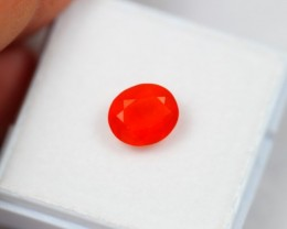 Auction Lot 10 ~ 1.38Ct Natural Red Mexican Fire Opal