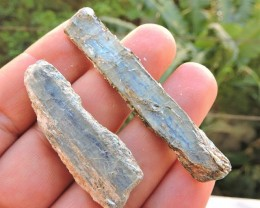22.53g BLUE KYANITE CRYSTALS SPECIMEN 2pcs THASOS ISLAND GREECE NR6