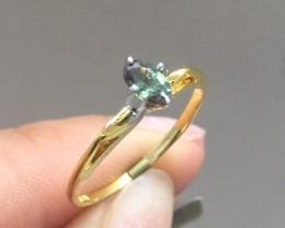 Splendid $1150 Nat Cert. 0.46ct 14K Yllw Solid Gold Alexandrite Ring Untrea