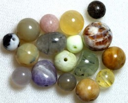 ASSORTED NATURAL STONE (PARCEL) DRILLED 49CTS NP-577