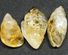 PARCEL 3  ABSTRACT CITRINE CARVING  53 CTS   AG 172