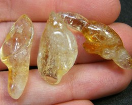 PARCEL 3  ABSTRACT CITRINE CARVING   38CTS   AG 178