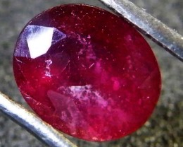 EYE CLEAN POMERGRANATE CRIMSON DEEP RED RUBY 1.86 CTS RM 18