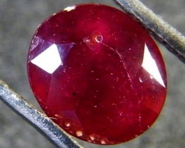 EYE CLEAN POMERGRANATE CRIMSON DEEP RED RUBY 2.3 CTS RM 23