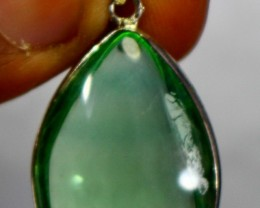 45 CTsNatural - Unheated Green Flourite Pendant