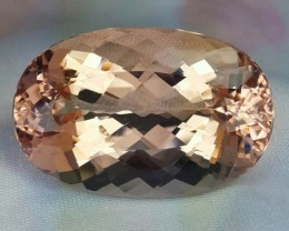 56.80 CTS RAVISHING NATURAL HUGE PEACH MORGANITE OVAL