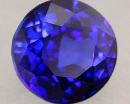 1.14Ct Natural Royal Blue Sapphire Round Cut