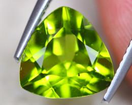 3.83Ct Natural Green Peridot Trillion Cut Lot D512