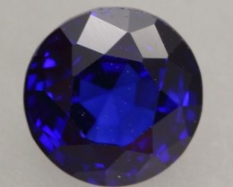 1.16Ct Natural Royal Blue Sapphire Round Cut