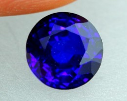 1.03Ct Natural Royal Blue Sapphire Round Cut