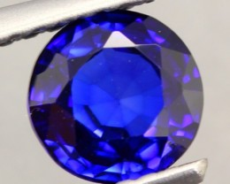 1.09Ct Natural Royal Blue Sapphire Round Cut