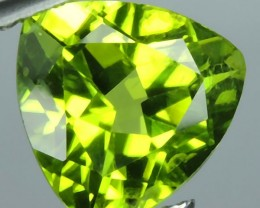 2.85 cts High Best Natural Apple Green Trillion Pakistan Peridot