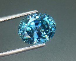 6.59 Ct Natural Light Blue Zircon Awesome Color ~ Cambodia Kj22