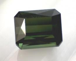 Jungle Green 3.25ct Emerald Cut Tourmaline, VVS AZ24