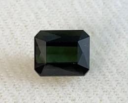 Dark Green  3.25ct Emerald Cut Tourmaline, AZ24