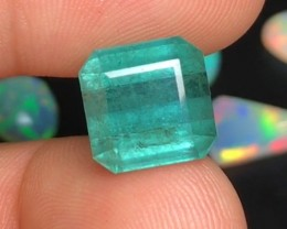 10.25 cts SEAFOAM TOURMALINE - OCEAN BLUE - AMAZING COLOR AND SIZE