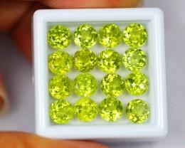 12.33Ct Natural Green Peridot Round Cut Lot 0710-2