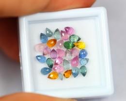 6.62Ct Natural Fancy Color Sapphire Briolette Cut Lot 0710-8