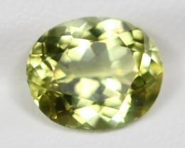 3.94Ct Natural VVS Color Greenish Yellow Sillimanite