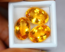 21.08Ct Natural Yellow Citrine Oval Cut Lot 0710-14