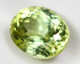 4.34Ct Natural VVS Excellent Luster Greenish Yellow Sillimanite