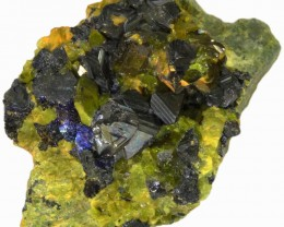 147.20 CTS EPIDOTE AND MAGNETITE SPECIMEN-PAKISTAN  [MGW5310]