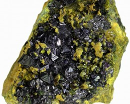 269.75 CTS EPIDOTE AND MAGNETITE SPECIMEN-PAKISTAN  [MGW5316]