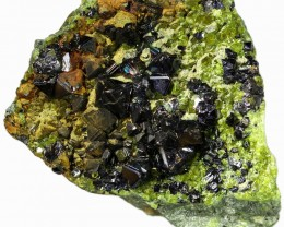 192.85 CTS EPIDOTE AND MAGNETITE SPECIMEN-PAKISTAN  [MGW5318]