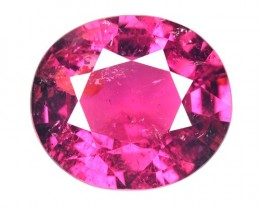 6.87 Cts Natural Raspberry Pink Rubelite Tourmaline Oval Mozambique