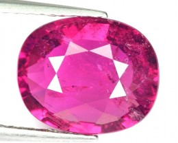 3.59 Cts Natural Raspberry Pink Rubelite Tourmaline Oval Mozambique