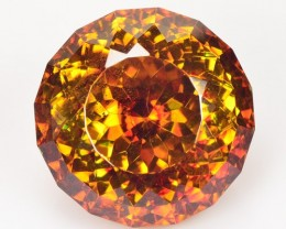 ~BRILLIANT CUT~ 9.34 Cts Natural Sphalerite Sunset Orange Round Spain