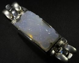 Dragon Dog Chalcedony silver bracelet  PPP1518